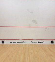 """Vår """"egen bane"""" Fana Squashklubb – Flere og bedre!"""